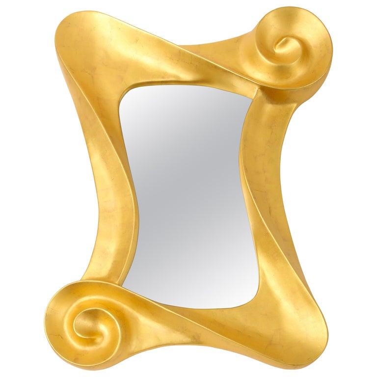 Lawrence De Martino 24-Karat Gold Leaf Mirror For Sale