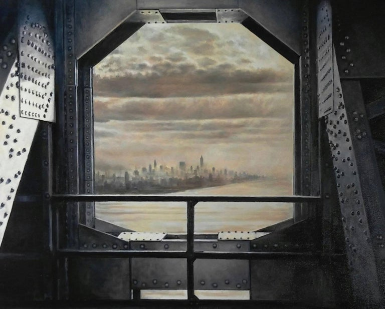 Lawrence Gipe Landscape Painting - Apotheosis No. 2 (View from the GW Bridge, 1937)