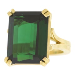 Lawrence Jeffrey 28.3 Carat Tourmaline Ring in Gold