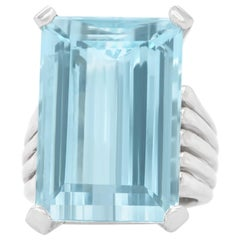 Lawrence Jeffrey 30ct Aquamarine-set Gold Ring