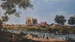 Lawrence Josset Eton College Engraving 1980 after Canaletto Public School UK
