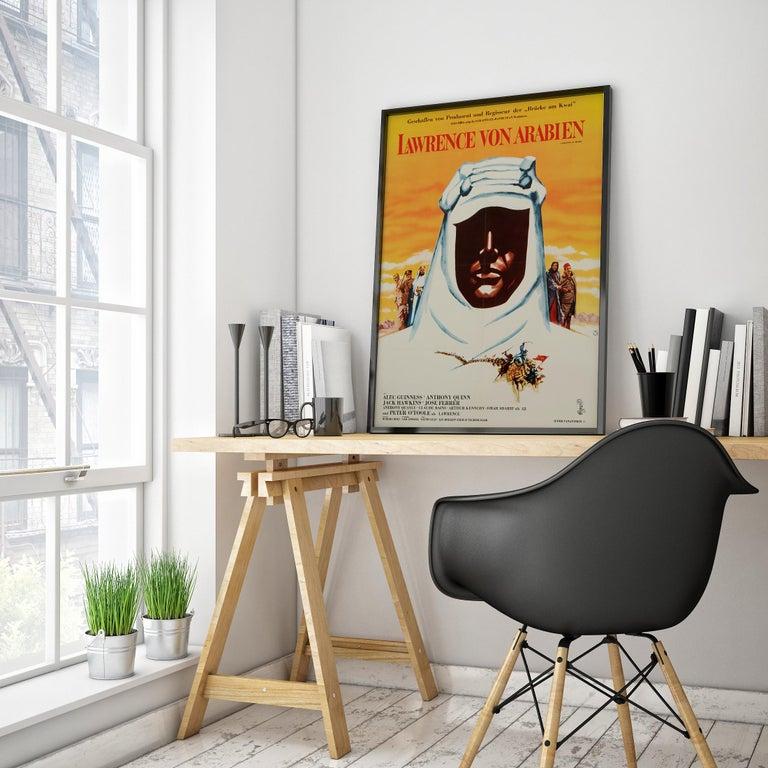 Mid-Century Modern 'Lawrence of Arabia' Original Vintage Movie Poster, German, 1963 For Sale