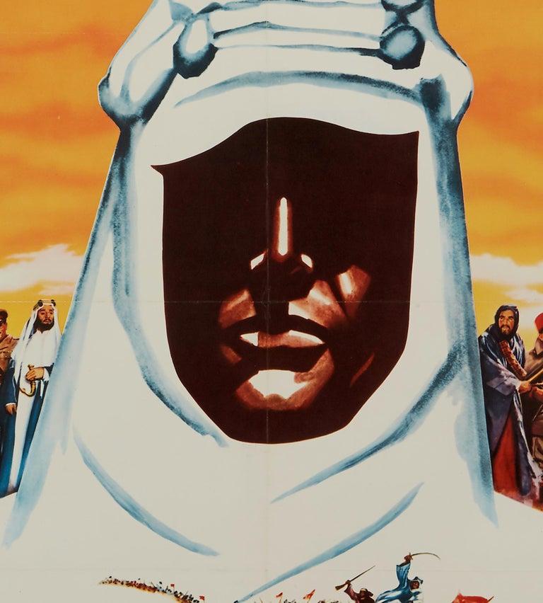 British 'Lawrence of Arabia' Original Vintage Movie Poster, German, 1963 For Sale