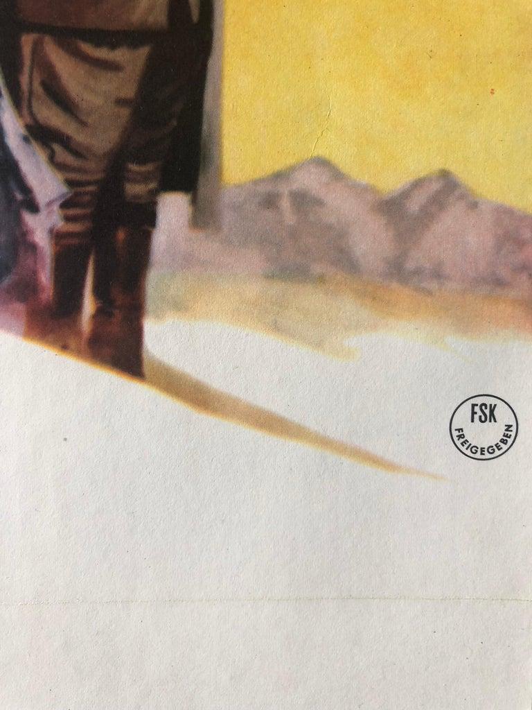 'Lawrence of Arabia' Original Vintage Movie Poster, German, 1963 In Good Condition For Sale In Devon, GB