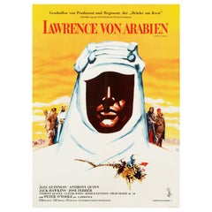 'Lawrence of Arabia' Original Vintage Movie Poster, German, 1963