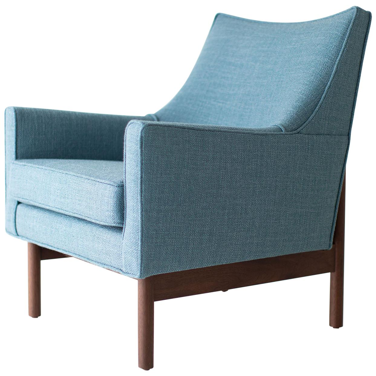 Lawrence Peabody Bracket Back Lounge Chair for Craft Associates
