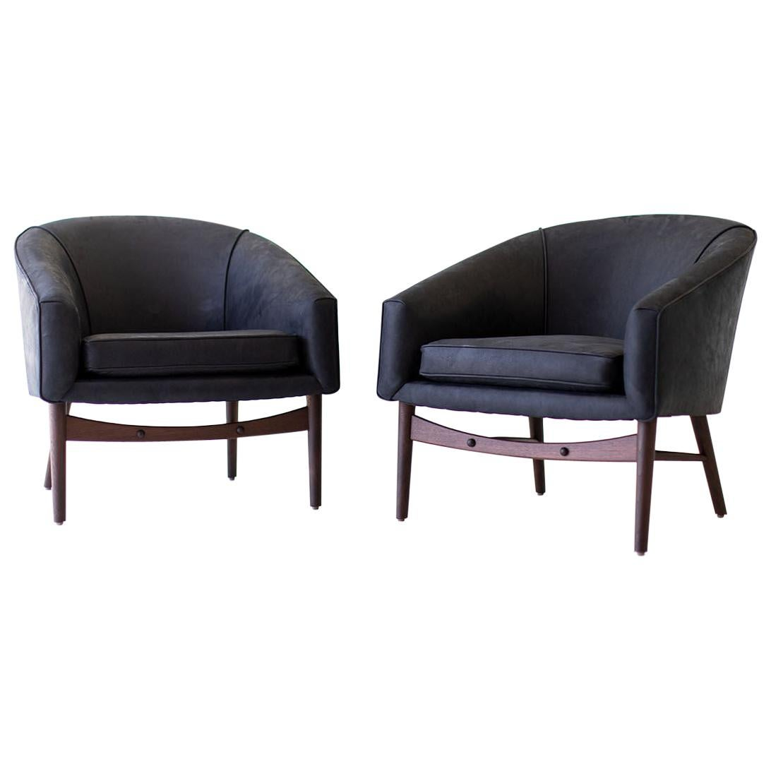 Lawrence Peabody Club Chairs for Craft Associates
