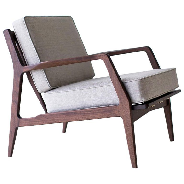 Lawrence Peabody Danish Lounge Chair for Craft Associates Furniture For Sale