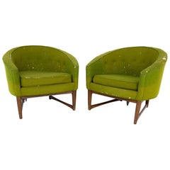Lawrence Peabody for Richardson Nemschoff Mid Century Lounge Chairs, a Pair