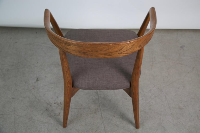 Lawrence Peabody for Richardson Nemschoff Solid Oak Armchairs, circa 1960s For Sale 3