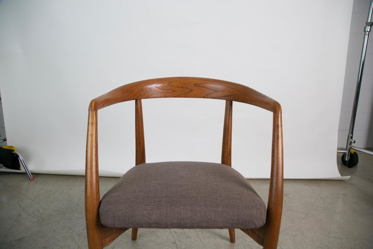 Lawrence Peabody for Richardson Nemschoff Solid Oak Armchairs, circa 1960s For Sale 4