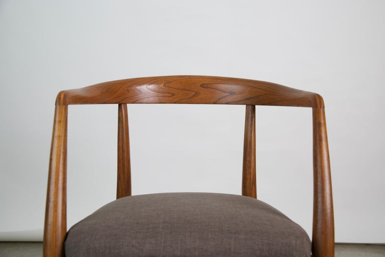 Lawrence Peabody for Richardson Nemschoff Solid Oak Armchairs, circa 1960s For Sale 5