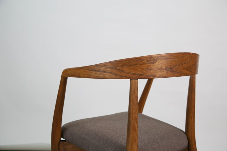 Lawrence Peabody for Richardson Nemschoff Solid Oak Armchairs, circa 1960s For Sale 9