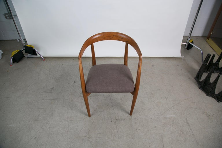 Mid-20th Century Lawrence Peabody for Richardson Nemschoff Solid Oak Armchairs, circa 1960s For Sale