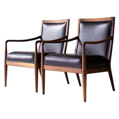 Lawrence Peabody Leather Lounge Chairs for Richardson Nemschoff