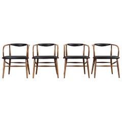 Lawrence Peabody Mid-Century Modern Dining Chairs For Richardson Nemschoff