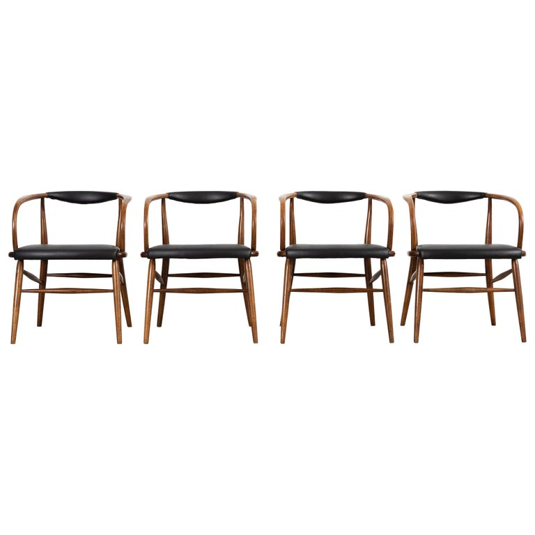 Lawrence Peabody Mid Century Modern Dining Chairs For