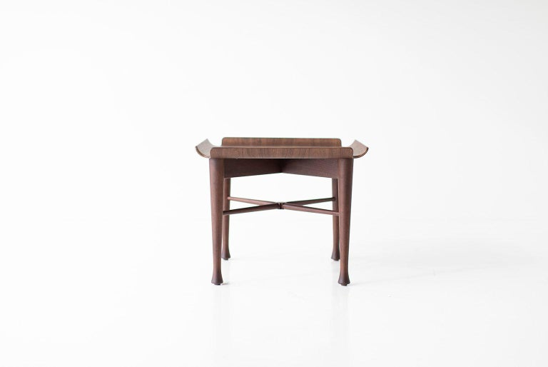 Lawrence Peabody Walnut Side Table for Craft Associates Furniture For Sale 4