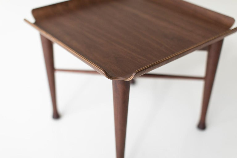 American Lawrence Peabody Walnut Side Table for Craft Associates Furniture For Sale