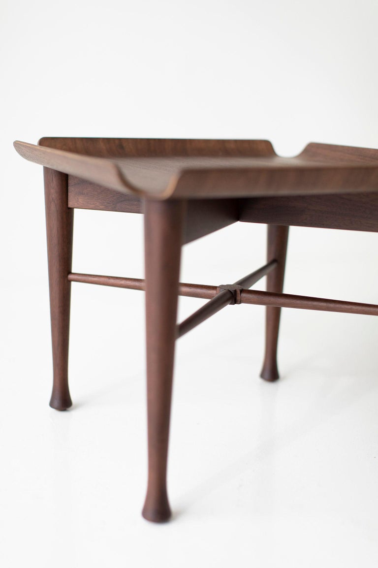 Lawrence Peabody Walnut Side Table for Craft Associates Furniture In New Condition For Sale In Oak Harbor, OH