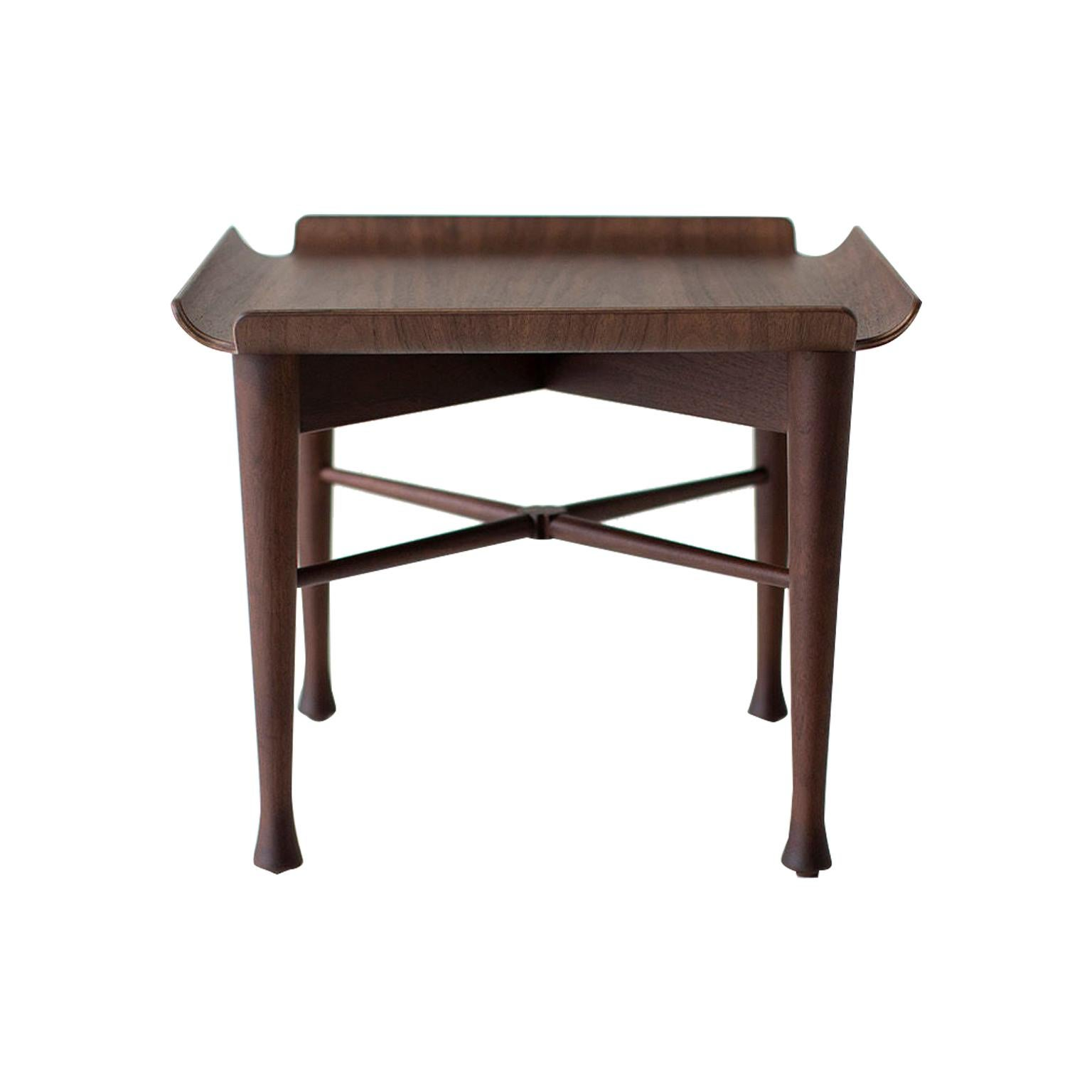 Lawrence Peabody Walnut Side Table for Craft Associates Furniture