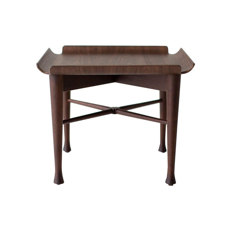 Lawrence Peabody Walnut Side Table for Craft Associates Furniture For Sale