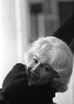 Marilyn Monroe Photograph in Black Sweater by Lawrence Schiller, 32/75