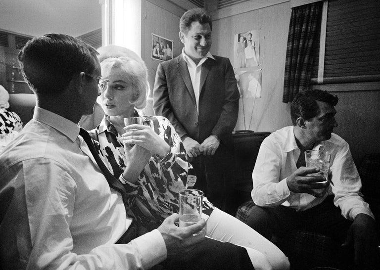 Lawrence Schiller Portrait Photograph - Marilyn Monroe Photograph of Set Celebration, 21/75