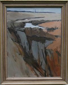 Essex Landscape - British 20th century Abstract art landscape oil painting