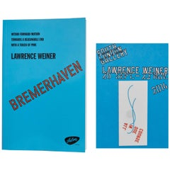 Lawrence Weiner Limited Edition Book and Tattoo, South London Gallery, 2014