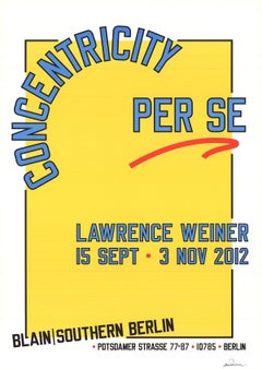 2012 After Lawrence Weiner 'Concentricity Per Se' Contemporary Yellow,Blue