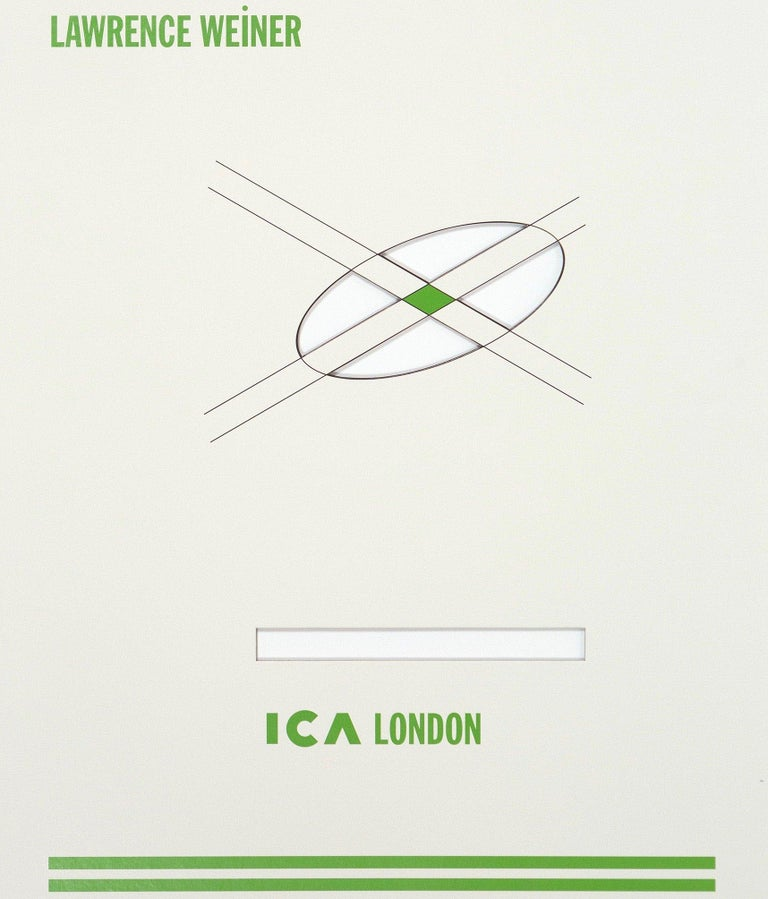 Spheres of Influence - Conceptual Print by Lawrence Weiner
