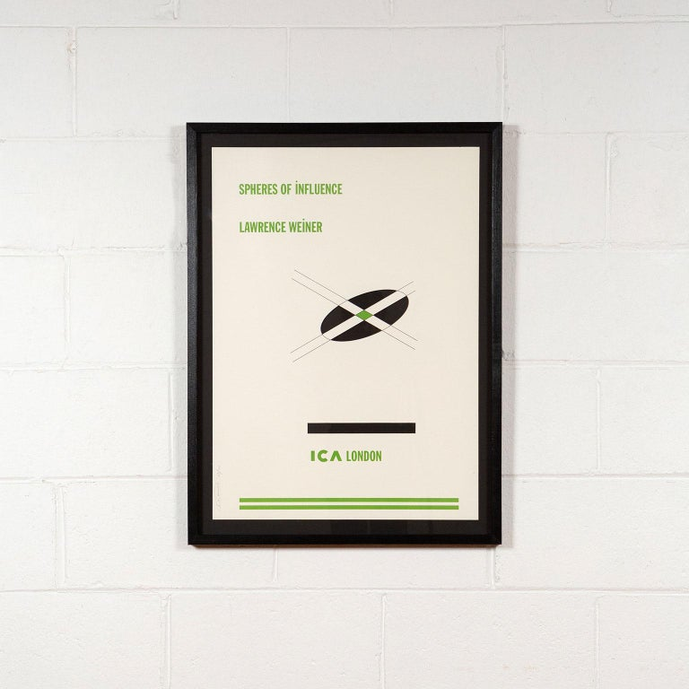 Spheres of Influence - Print by Lawrence Weiner