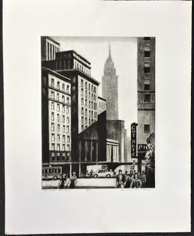 The Spire -- New York - American Modern Print by Lawrence Wilbur