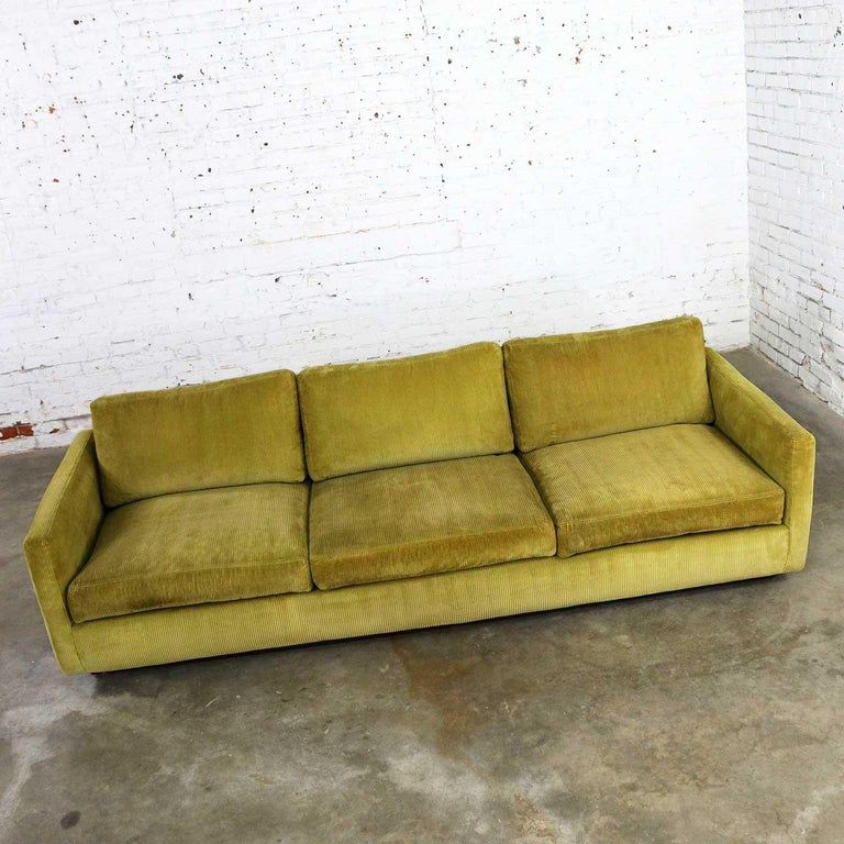Lawson Style Wide Wale Corduroy Sofa By