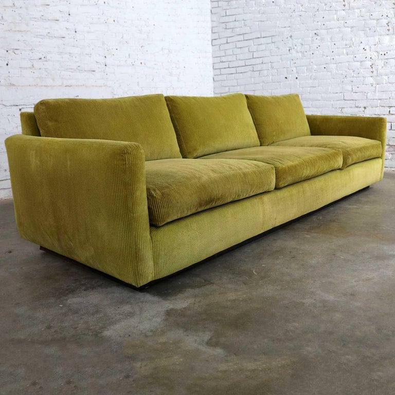 Lawson Style Wide Wale Corduroy Sofa By Milo Baughman For Thayer