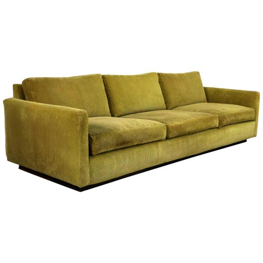 Pleasing Lawson Style Wide Wale Corduroy Sofa By Milo Baughman For Creativecarmelina Interior Chair Design Creativecarmelinacom