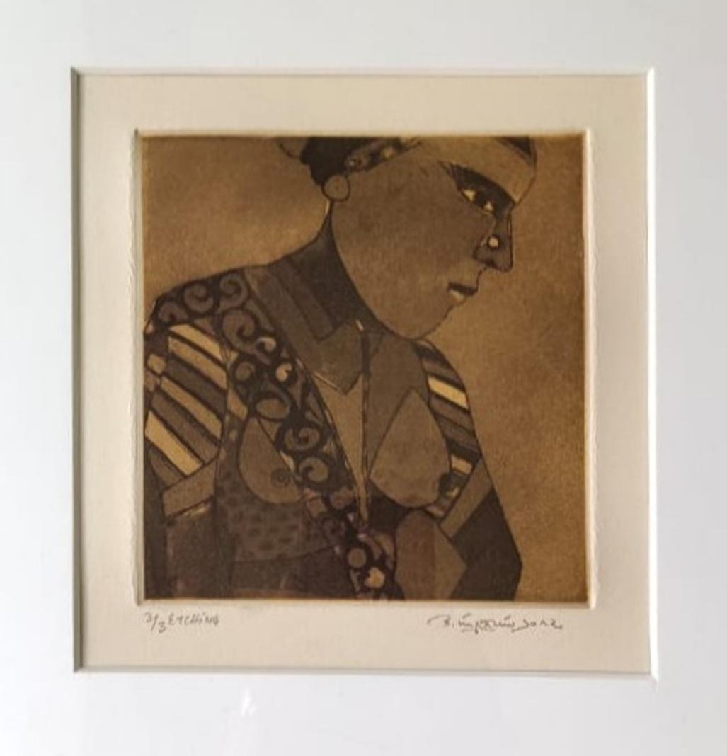 """Untitled, Etching on Paper, (Set of 2 works) Modern Indian Artist """"In Stock"""""""