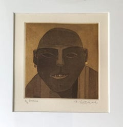 """Untitled, Etching on Paper (Set of 2 works) K. Laxma Goud """"In Stock"""""""