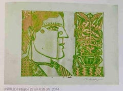 """Untitled, Intaglio, Etching on Paper, Modern Indian Artist """"In Stock"""""""