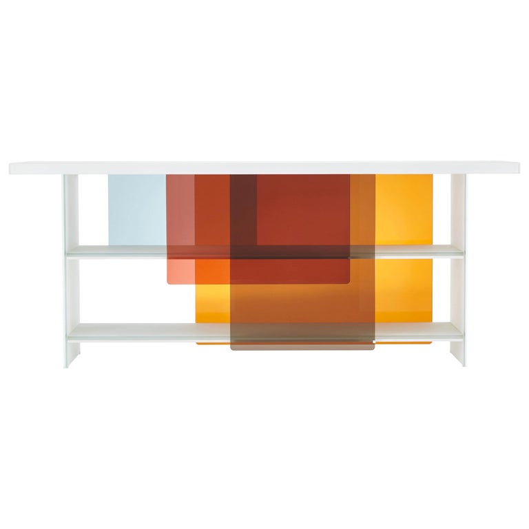 Layers Large Glass Bookshelves, by Design Nendo from Glas Italia For Sale