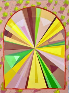 American, Contemporary, Abstract, Circular and Colorfully Large Work