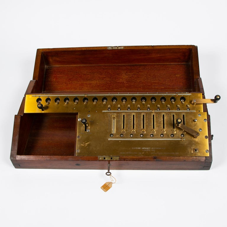 English Layton's Improved Arithmometer, Dated 1912 For Sale