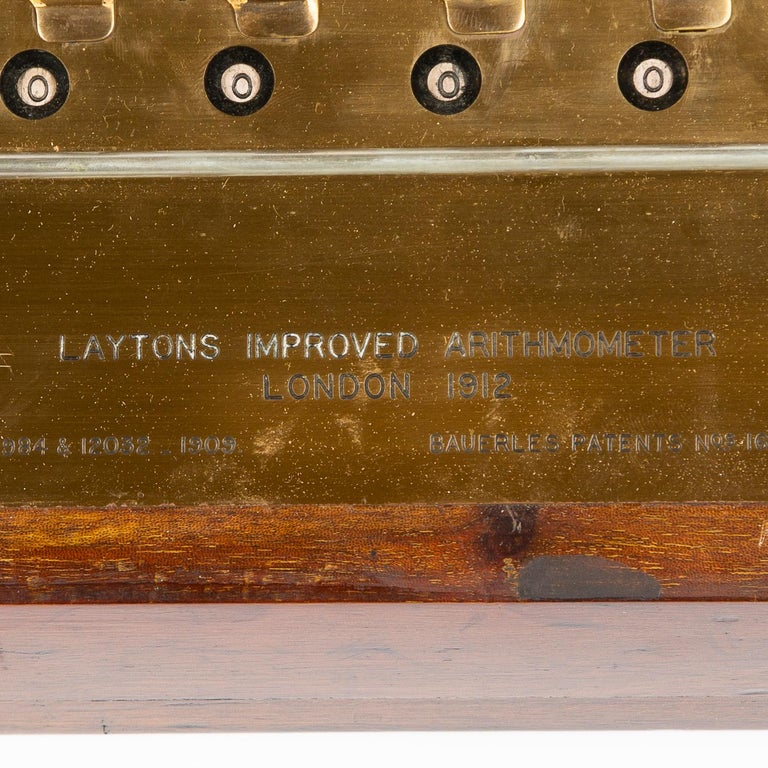 Layton's Improved Arithmometer, Dated 1912 For Sale 2