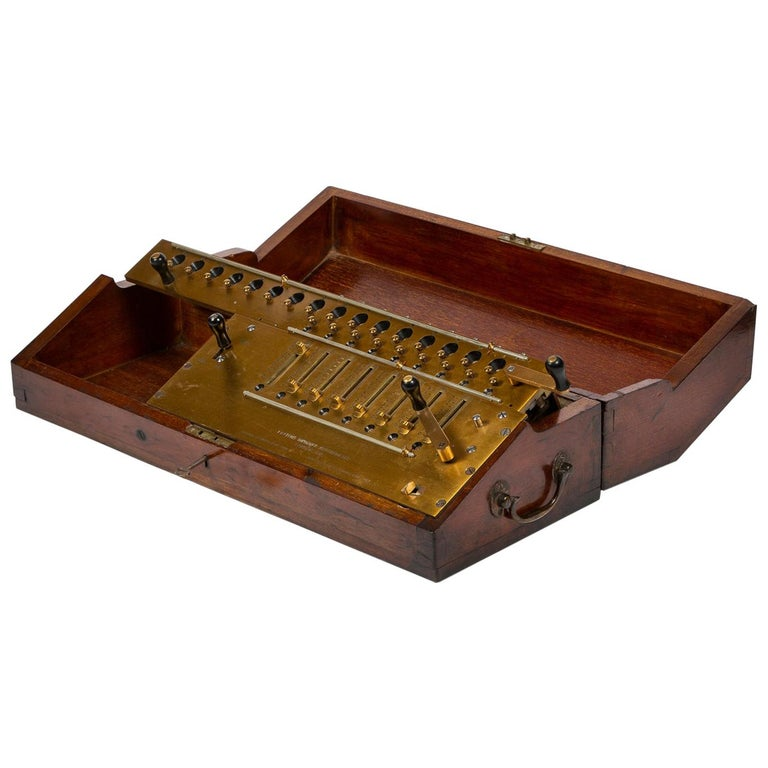 Layton's Improved Arithmometer, Dated 1912 For Sale