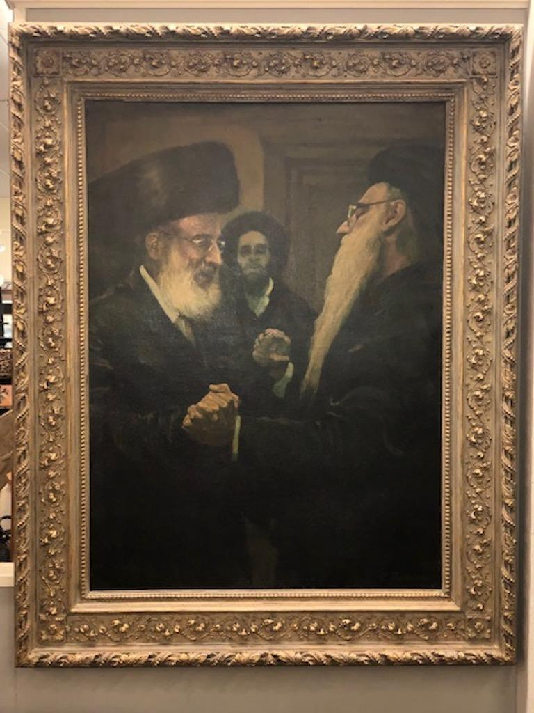 Lazar, Krestin (1868-1938)  was an artist famous in the German art world for Judaic genre scenes and his many sober portraits of Eastern European Jews. He was also a noted Zionist. His father was a Talmud teacher. His first lessons were at the