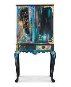 Mermaid - wooden Drinks cabinet - furniture Art on Furniture