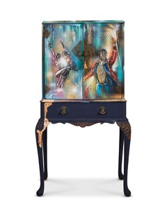 Showman circus - wooden Drinks Cabinet furniture Art on furniture