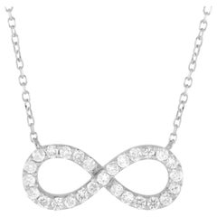 LB Exclusive 14 Karat Gold 0.30 Carat Diamond Infinity Symbol Pendant Necklace