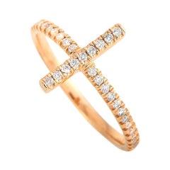 LB Exclusive 14 Karat Rose Gold 0.23 Carat Diamond Ring